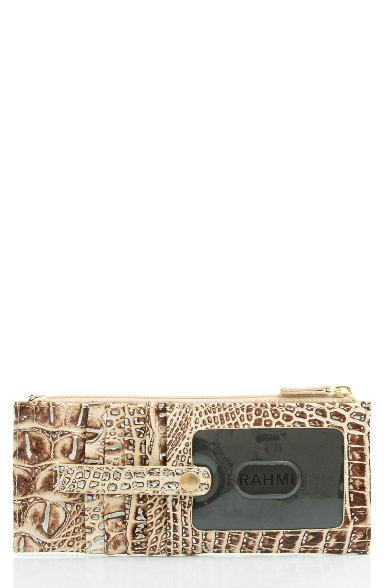 Muse Melbourne Croc Embossed Leather Card Wallet