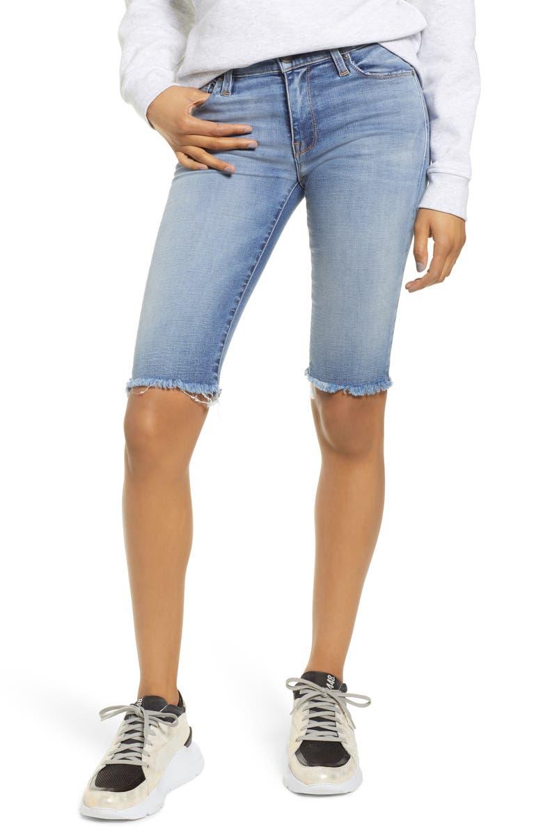 HUDSON JEANS Amelia Knee Length Cutoff Denim Shorts, Main, color, OUTSHINE
