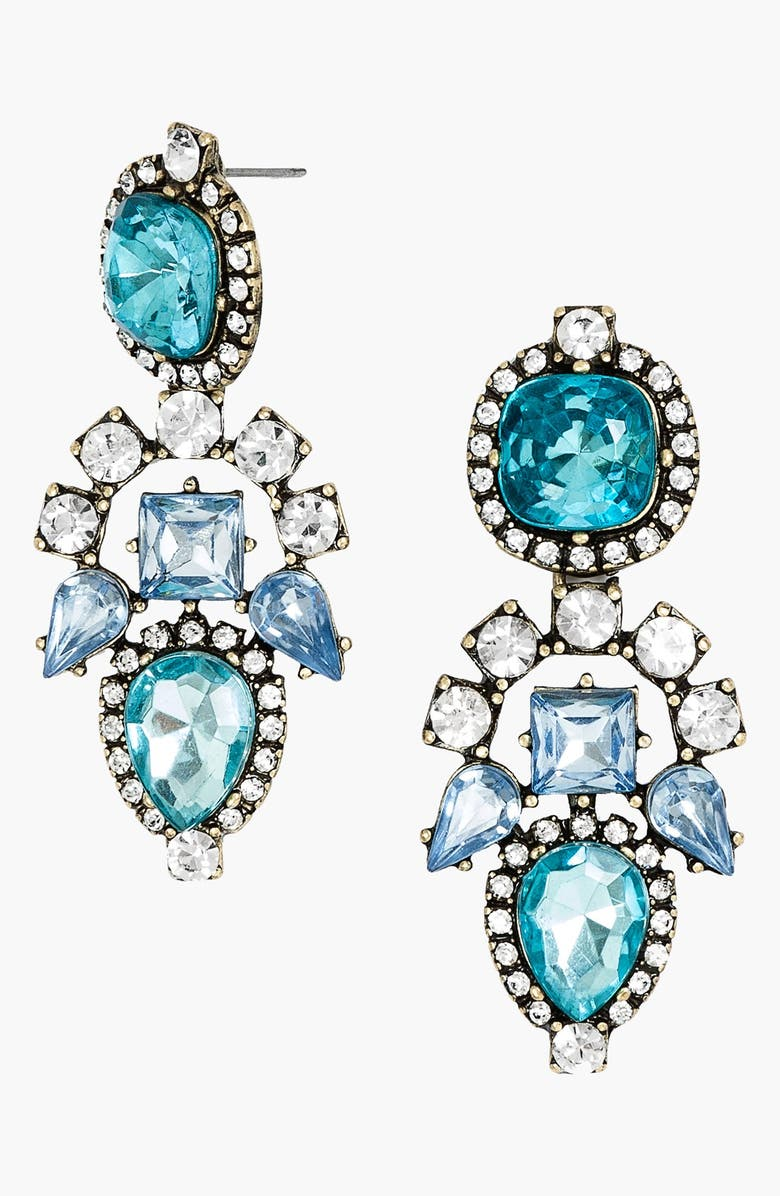 BAUBLEBAR 'Aztec' Crystal Drop Earrings, Main, color, 440