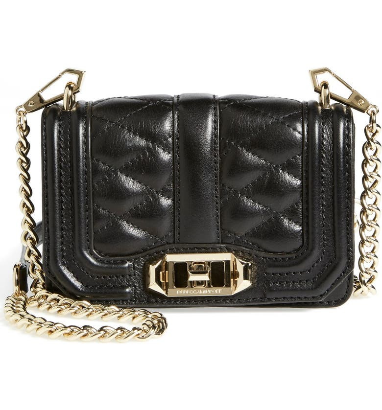 REBECCA MINKOFF 'Mini Love' Convertible Crossbody Bag, Main, color, 001