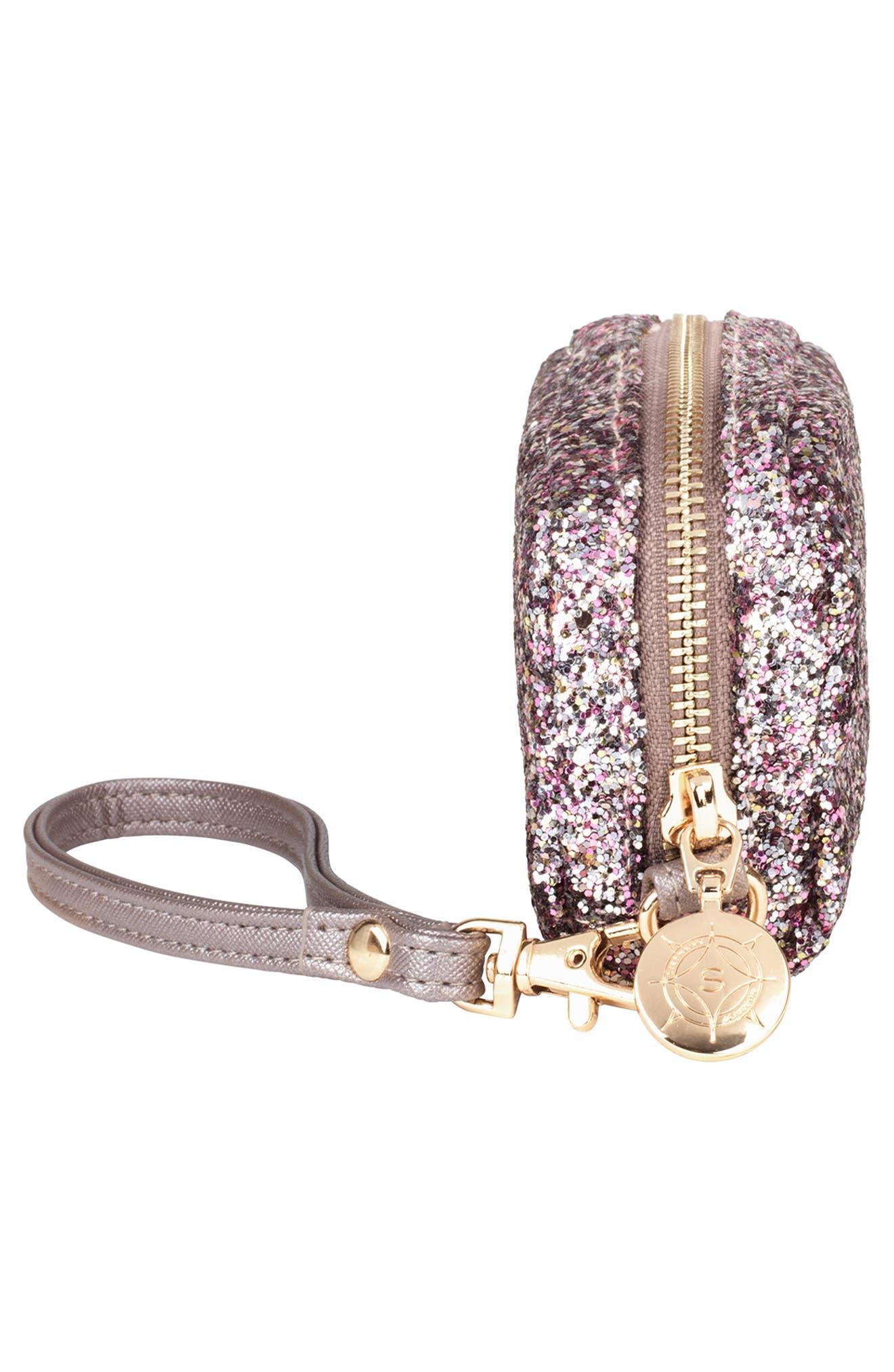 Stephanie Johnson Mini Pouch Sparkle Wristlet - Pink