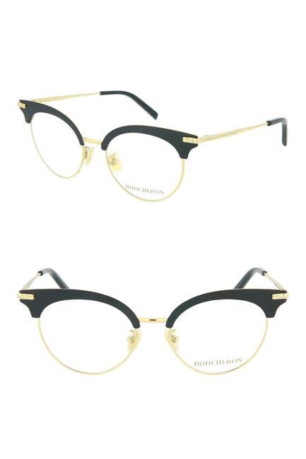 Image of Boucheron 50mm Cat Eye Clubmaster Optical Frames