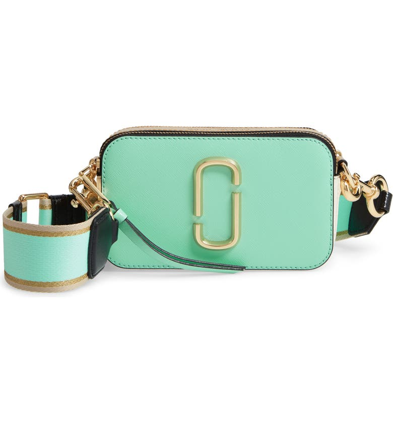 THE MARC JACOBS Snapshot Crossbody Bag, Main, color, MINT JULEP MULTI