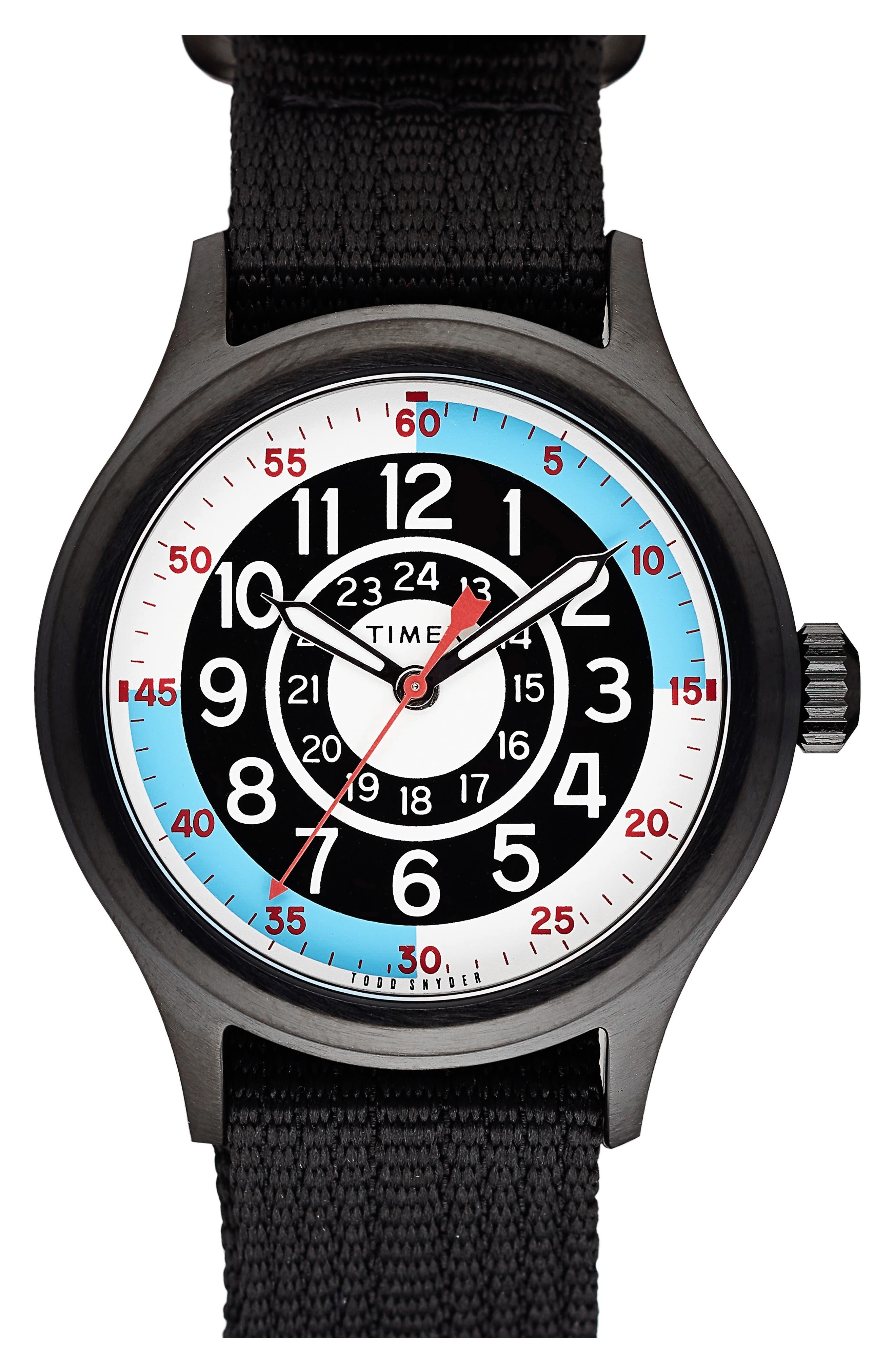 The Blackjack NATO Strap Watch, 40mm, Main, color, WHITE/ BLACK