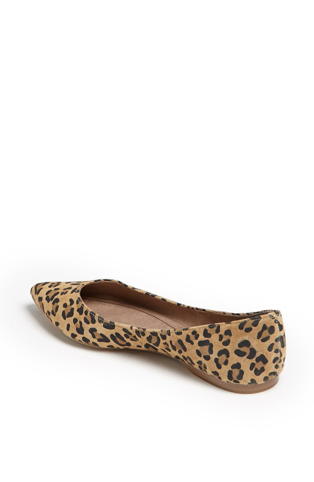 ,                             'Moveover' Pointy Toe Leather Flat,                             Alternate thumbnail 8, color,                             200