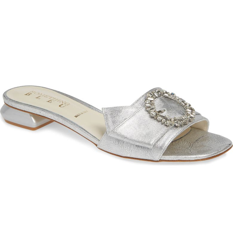 SOMETHING BLEU Yardley Crystal Buckle Slide Sandal, Main, color, 040