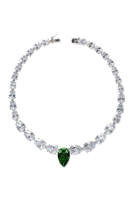 Image of CZ By Kenneth Jay Lane Pear CZ Graduated Necklace