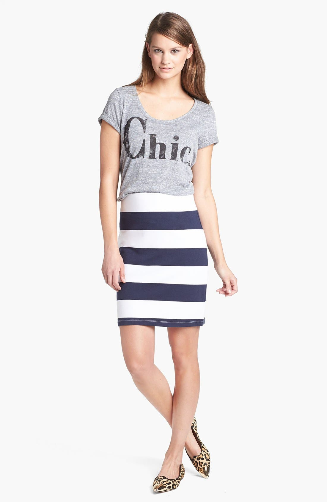 ,                             Stripe French Terry Skirt,                             Alternate thumbnail 16, color,                             411