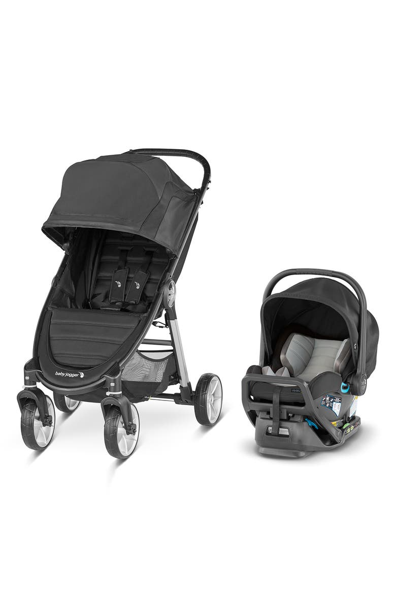 BABY JOGGER City Mini<sup>®</sup> 2 Stroller & City GO<sup>™</sup> 2 Infant Car Seat Travel System, Main, color, JET