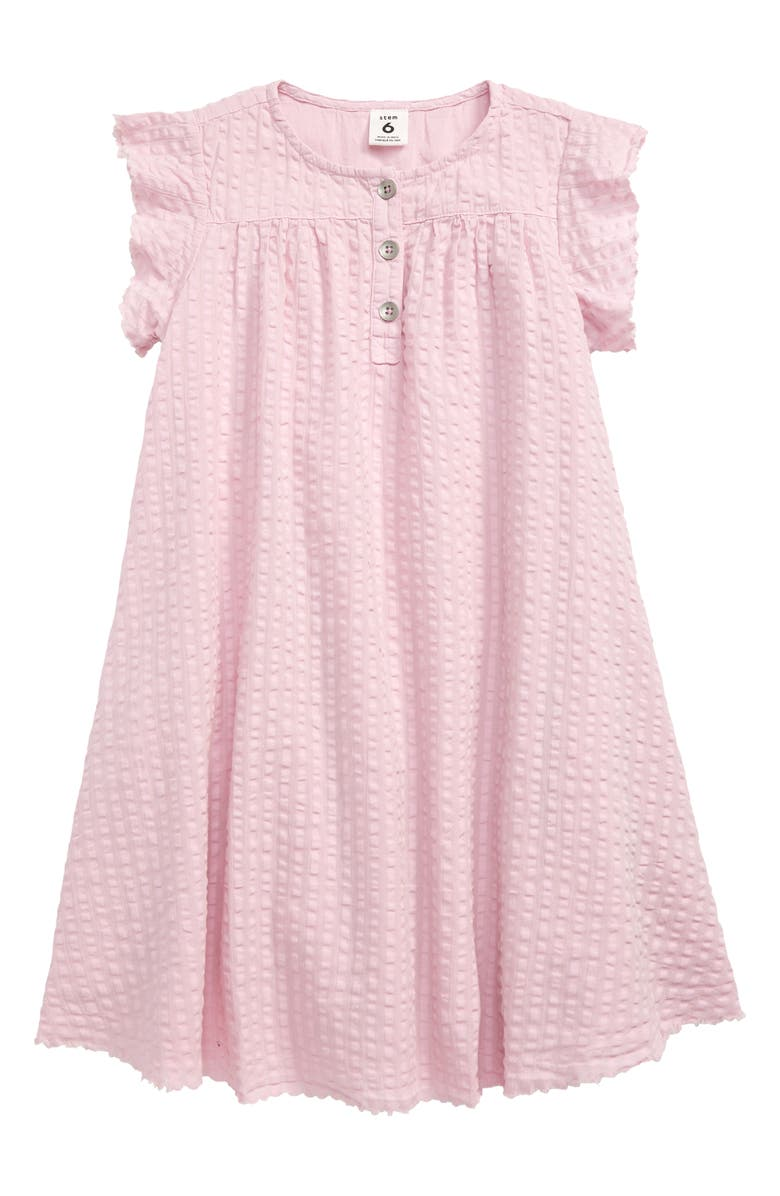 STEM Henley Dress, Main, color, PURPLE WINDSOME