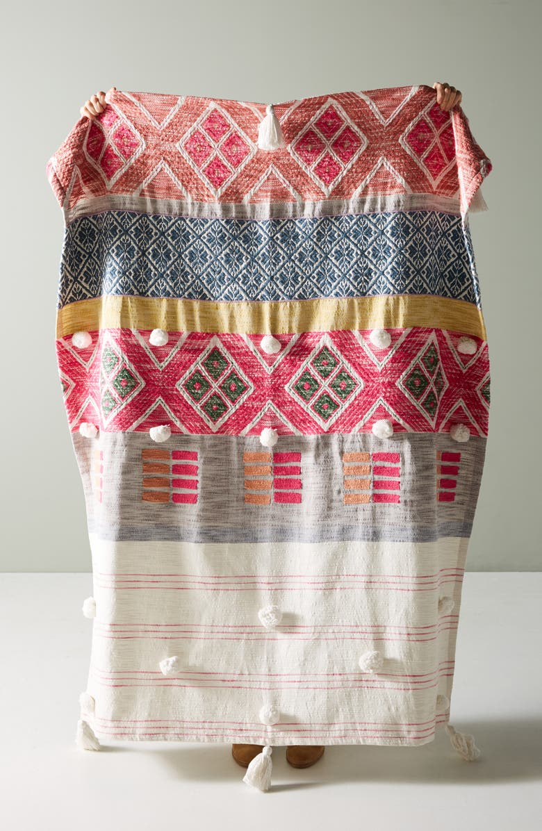 Anthropologie Rosewood Throw Blanket