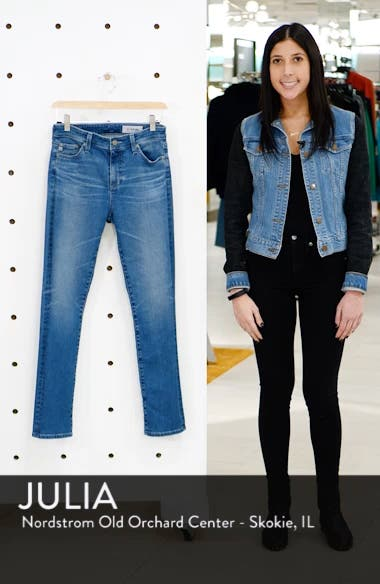 Mari High Waist Slim Straight Leg Jeans, sales video thumbnail