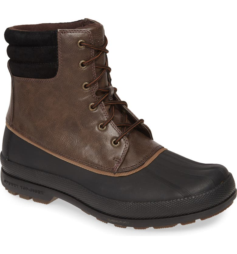 SPERRY Cold Bay Duck Boot, Main, color, BROWN/ BLACK