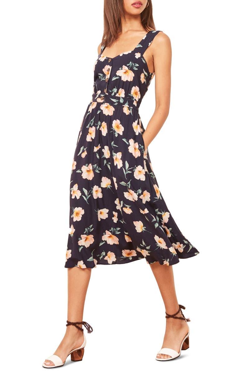 REFORMATION Lanai Midi Dress, Main, color, 400