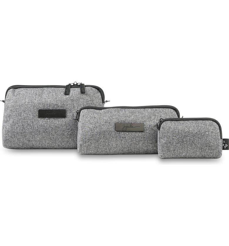 JU-JU-BE 'Be Set - Onyx Collection' Top Zip Cases, Main, color, GRAY MATTER