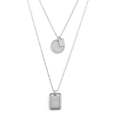 Madewell Etched Coin Necklace Set