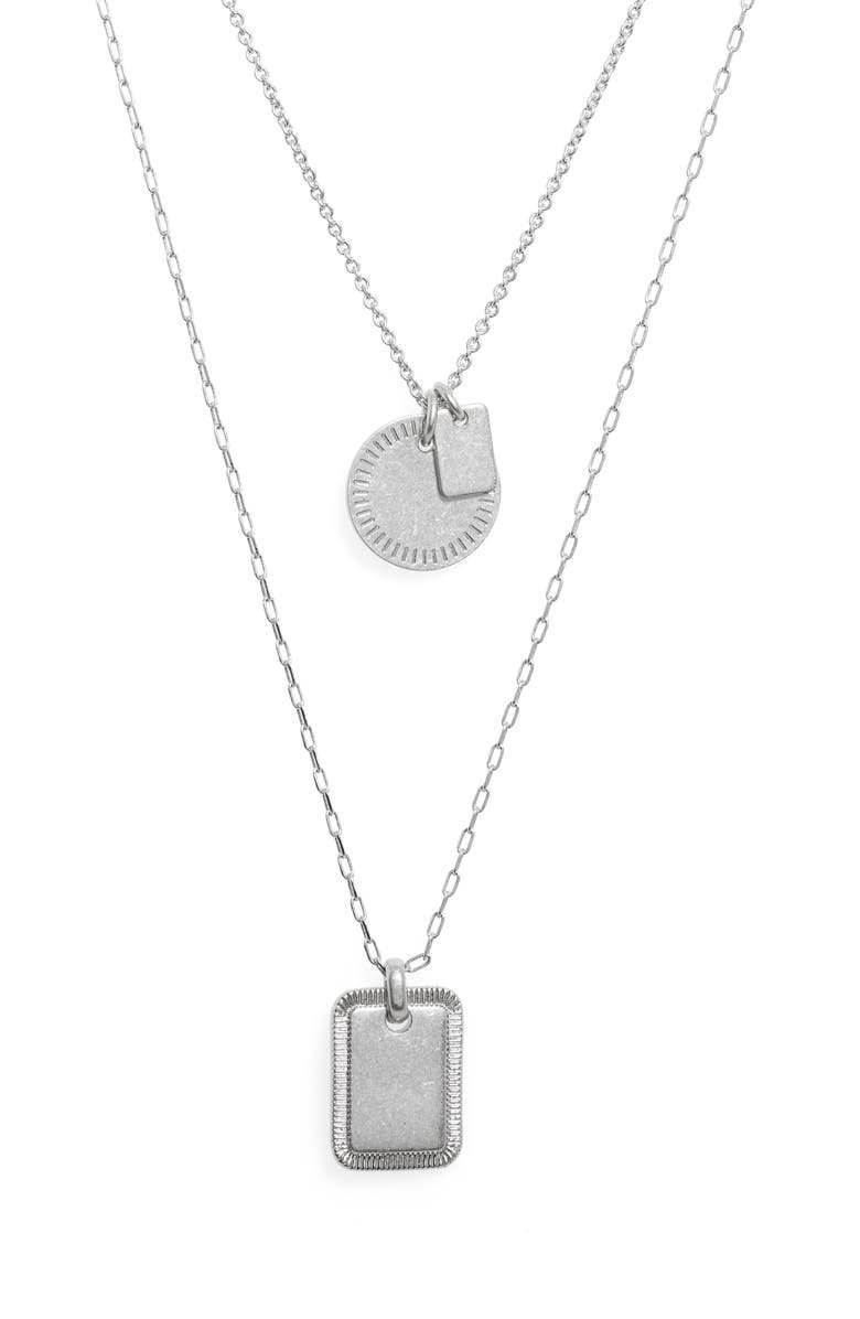 Etched Coin Necklace Set by Madewell