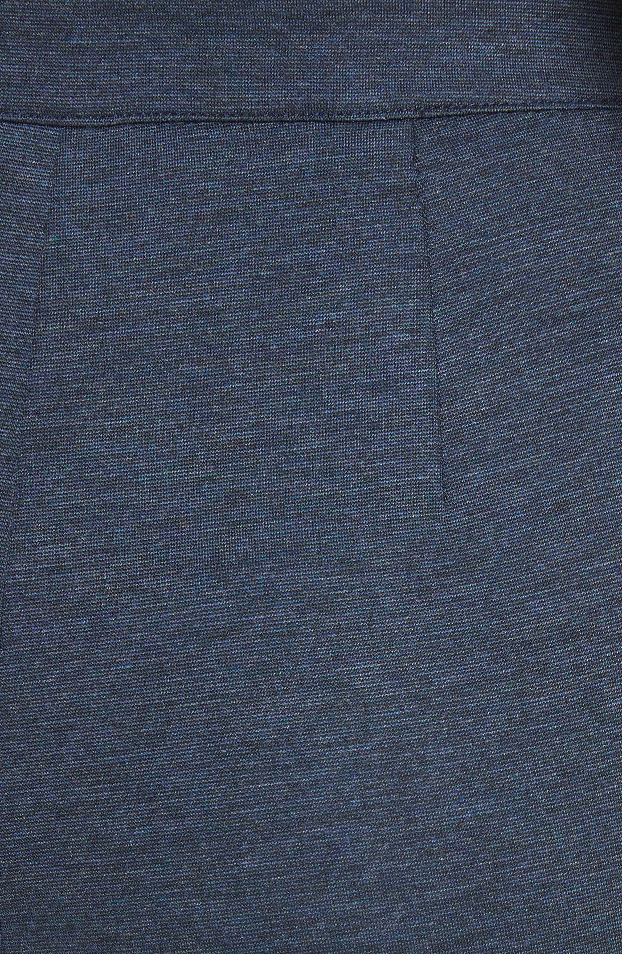,                             Mélange Stretch Ponte Crop Pants,                             Alternate thumbnail 5, color,                             DARK BLUE