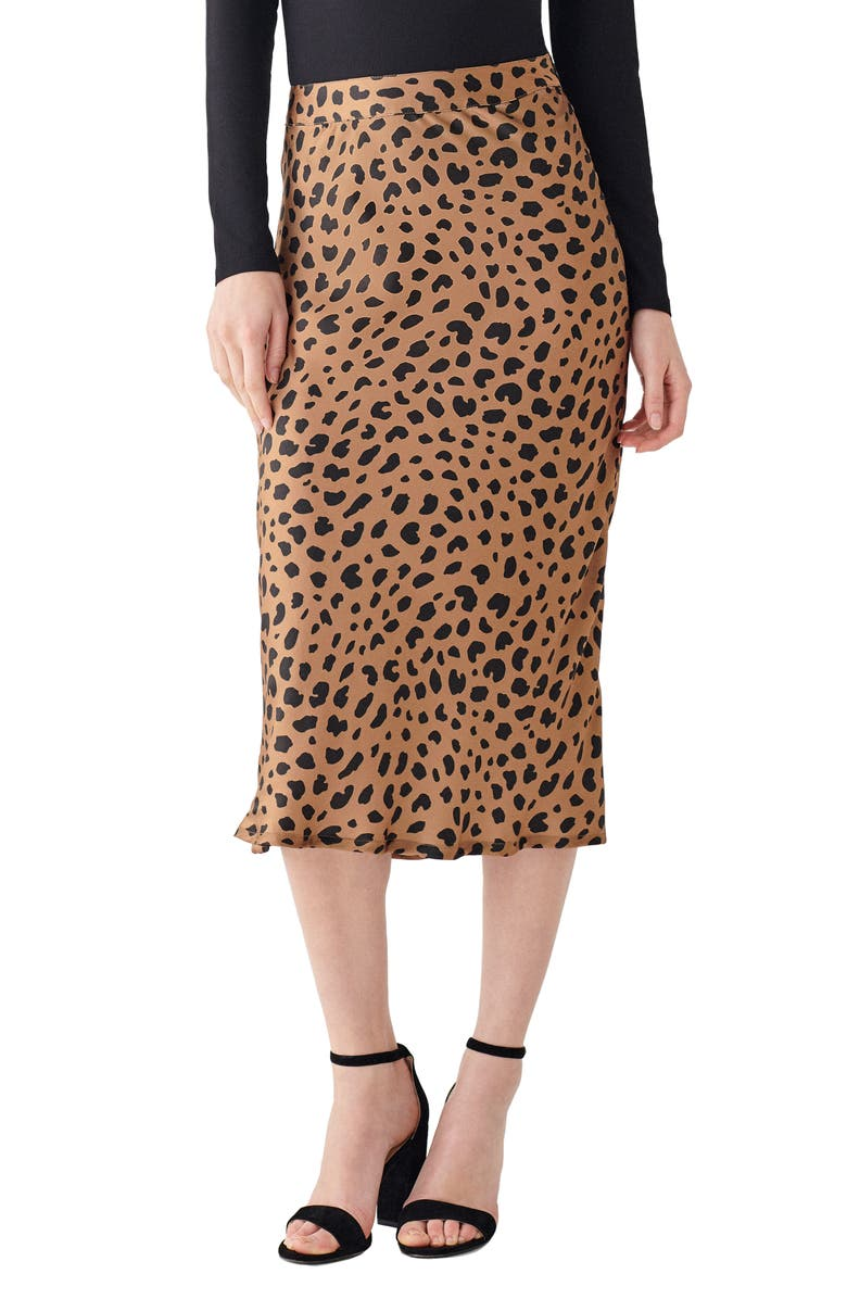DL1961 x Marianna Hewitt Bank Street Silk Pencil Skirt, Main, color, 209