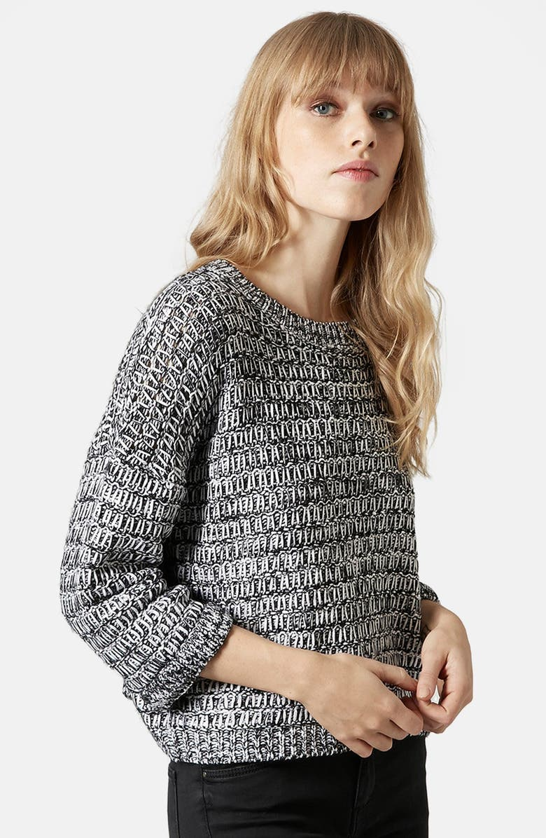 TOPSHOP Slouchy Marl Sweater, Main, color, 020