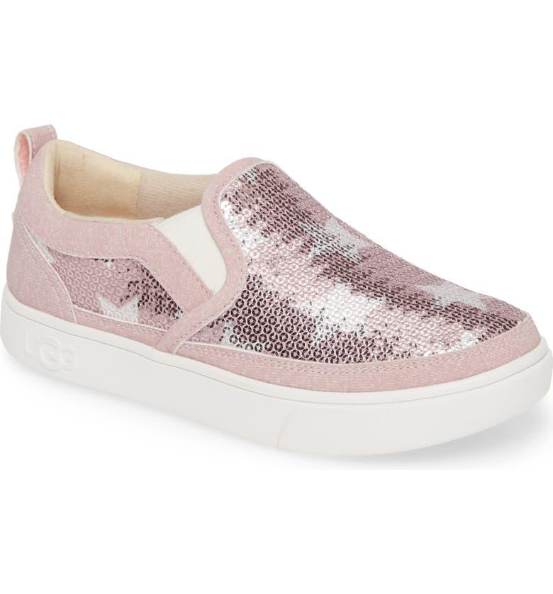 UGG<SUP>®</SUP> Caplan Sequin Stars Slip-On Sneaker, Main, color, 650