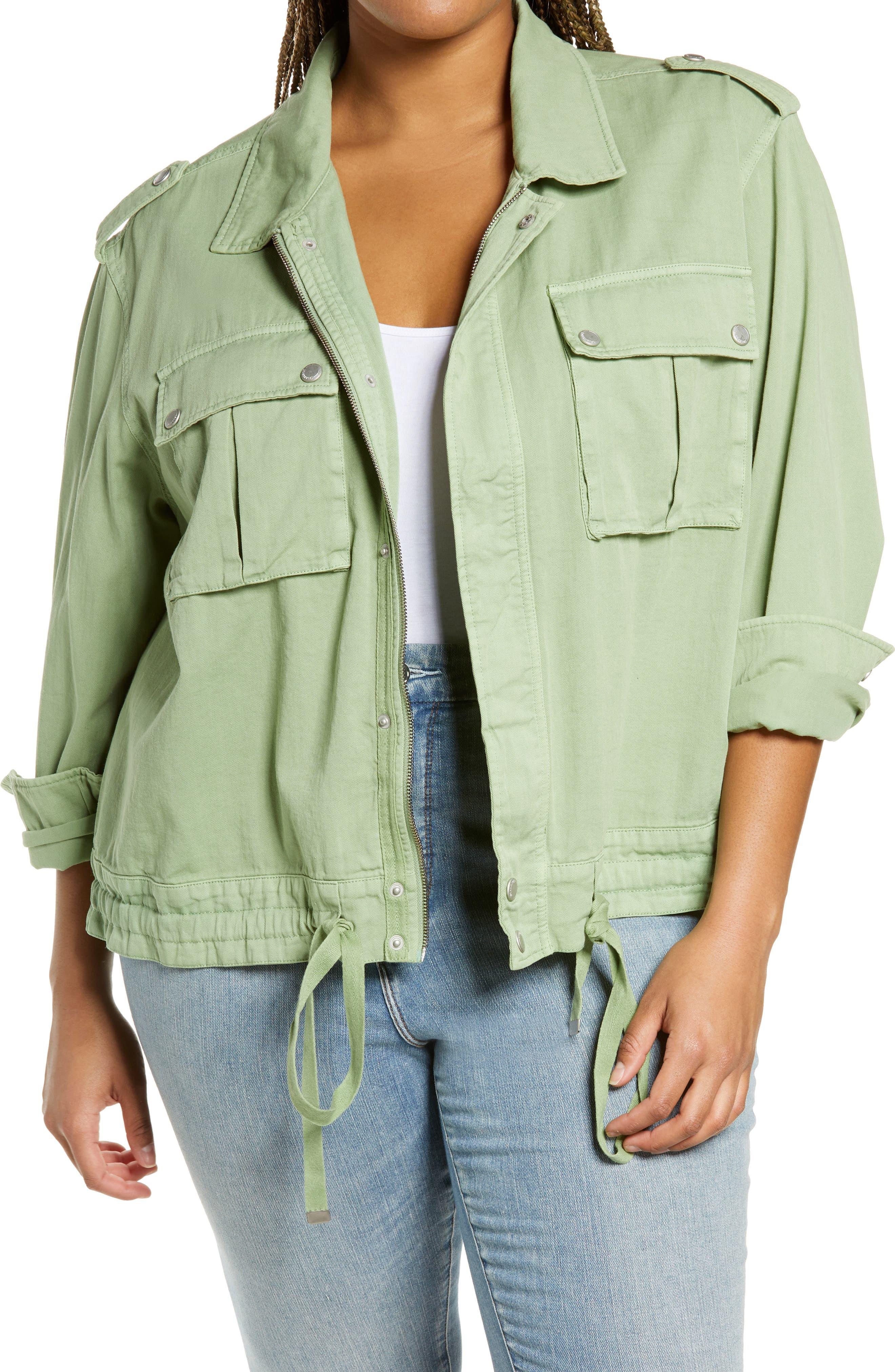 Plus Size Women's Blanknyc Twill Utility Jacket, Size 2X - Green