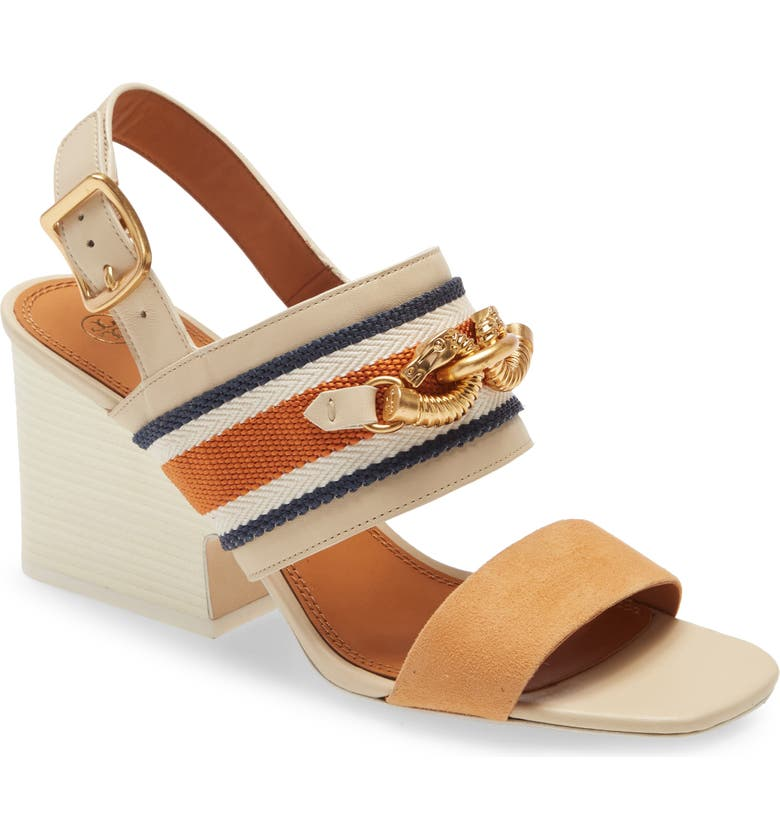 TORY BURCH Jessa Horse Hardware Slingback Sandal, Main, color, 252