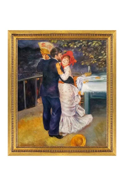 Overstock Art Dance In The Country Framed Oil Reproduction Of An Original Painting By Pierre Auguste Renoir Nordstrom Rack