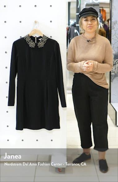 Calliea Appliqué Long Sleeve Skater Dress, sales video thumbnail