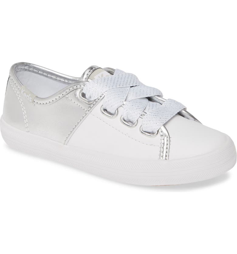 KEDS<SUP>®</SUP> Kickstart Sneaker, Main, color, WHITE/ SILVER