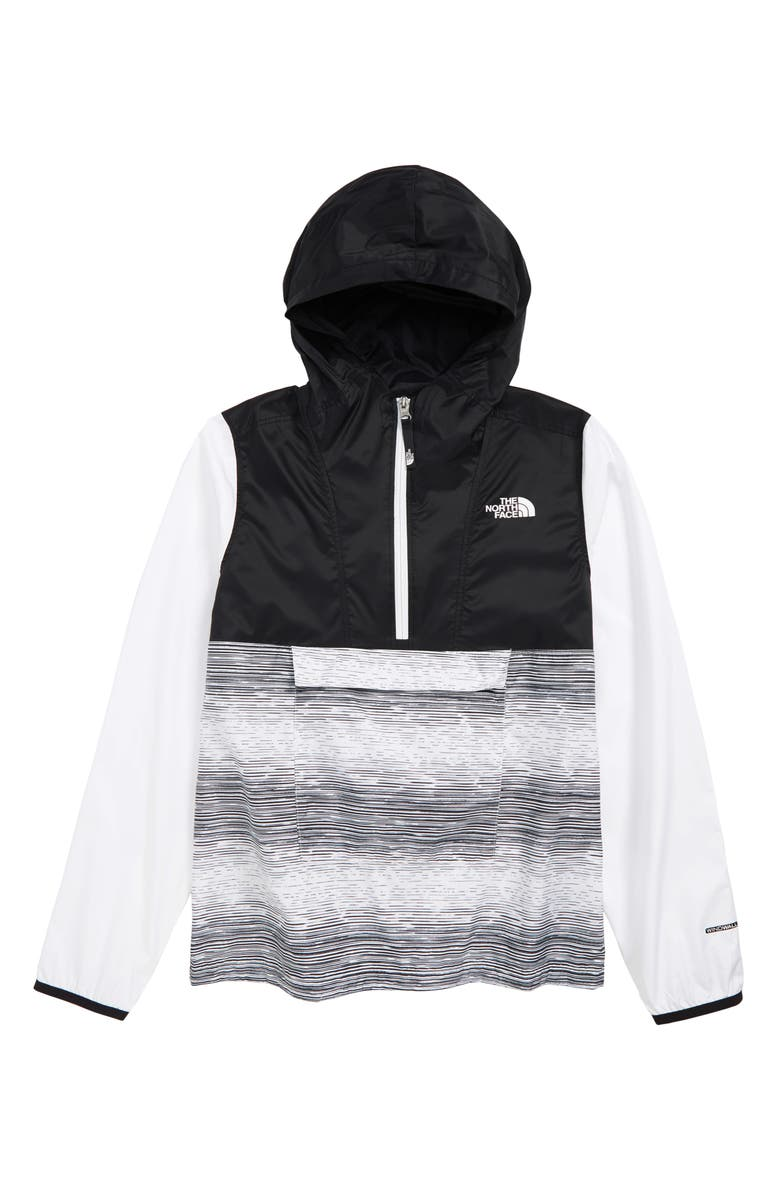 THE NORTH FACE Wind & Water Resistant Fanorak, Main, color, TNF WHITE DISTRESSED PRINT