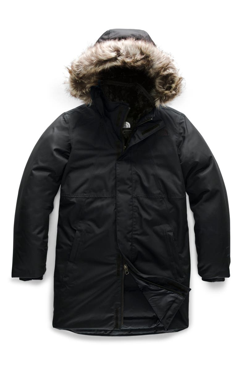 THE NORTH FACE Arctic Swirl Waterproof 550 Fill Power Down Parka, Main, color, TNF BLACK