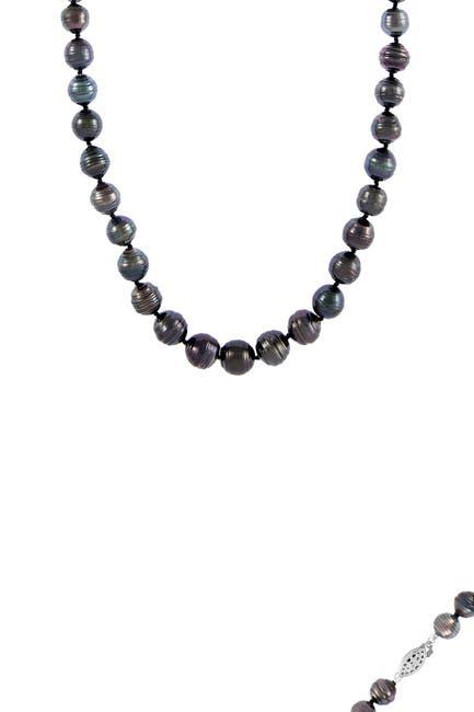 Image of Splendid Pearls 8-9mm Black Tahitian Pearl Necklace