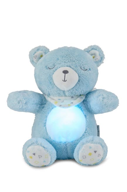 Image of Dreamgro Plush Soother Bear w/Lights & Music - Blue Bear