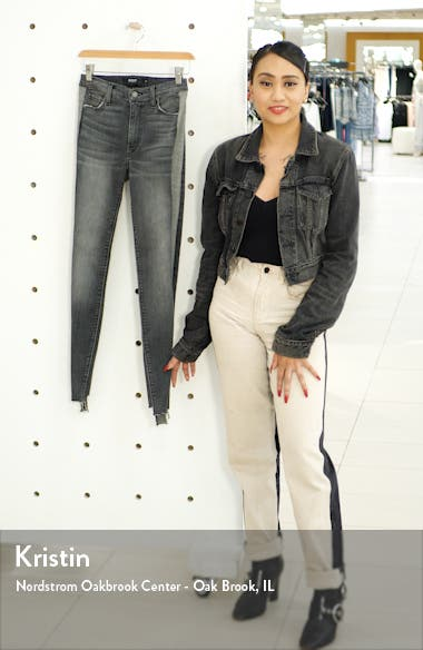 Barbara High Waist Tuxedo Stripe Ankle Skinny Jeans, sales video thumbnail