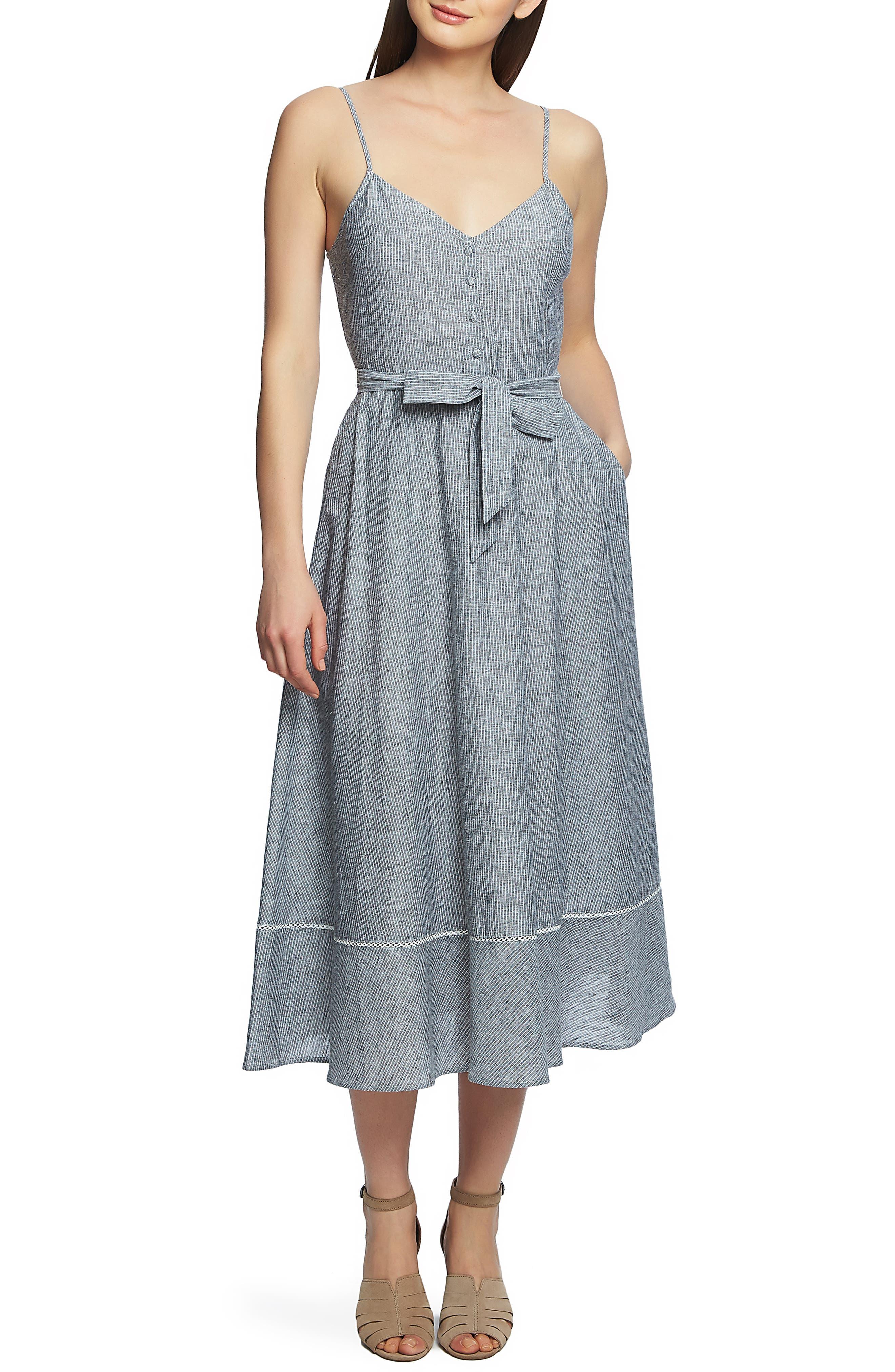 1.state Boardwalk Stripe Fit & Flare Dress