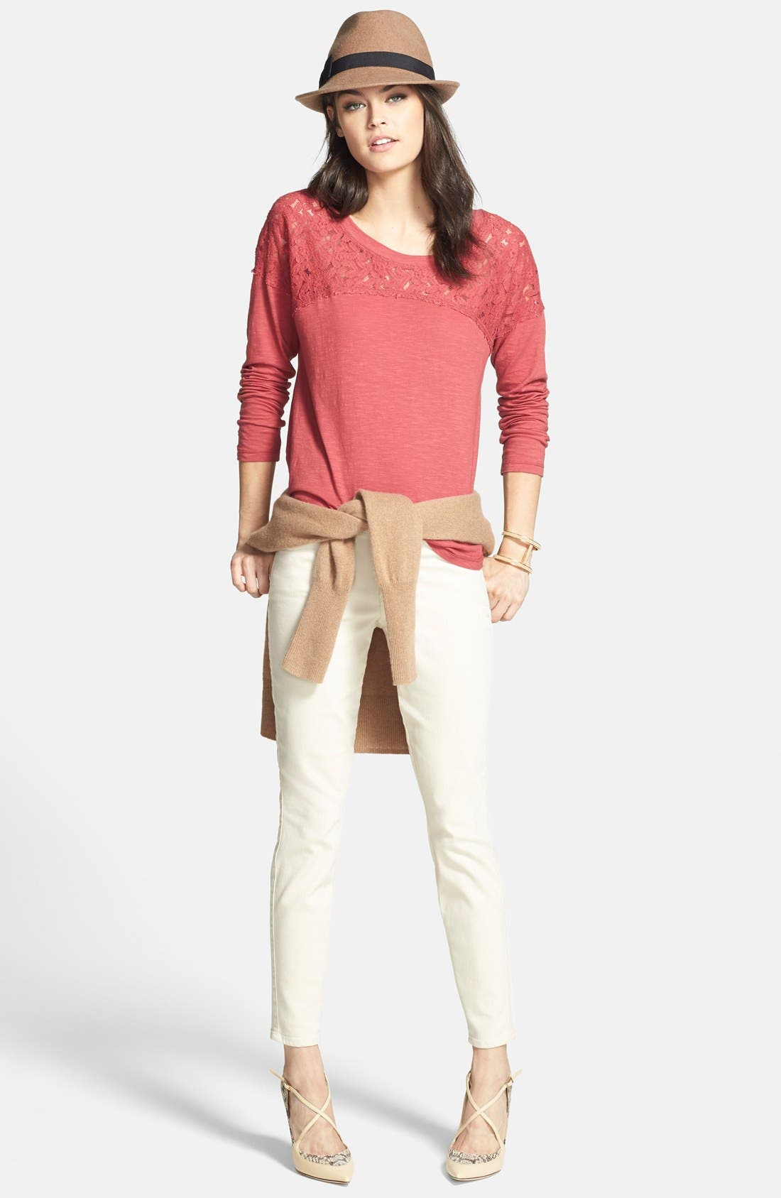 ,                             Cashmere V-Neck Sweater,                             Alternate thumbnail 22, color,                             201