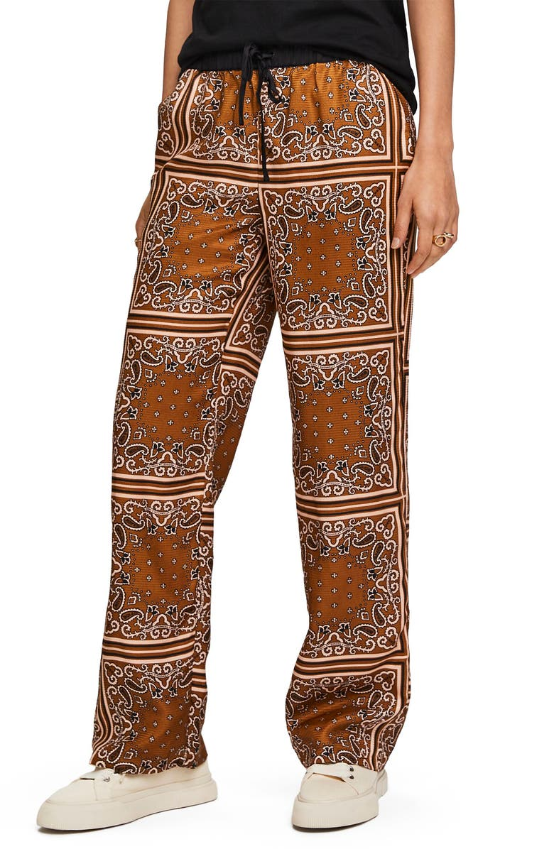 SCOTCH & SODA Bandana Print Wide Leg Pants, Main, color, COMBO C