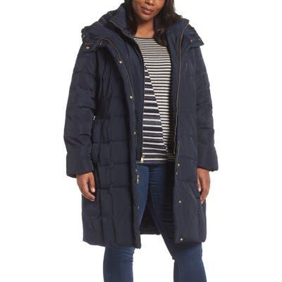 Plus Size Cole Haan Signature Bib Inset Coat