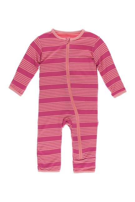 Image of KicKee Pants Striped Zip Coverall