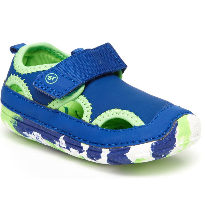 STRIDE RITE Soft Motion<sup>™</sup> Splash Water Shoe, Main, color, BLUE LEATHER/ MESH
