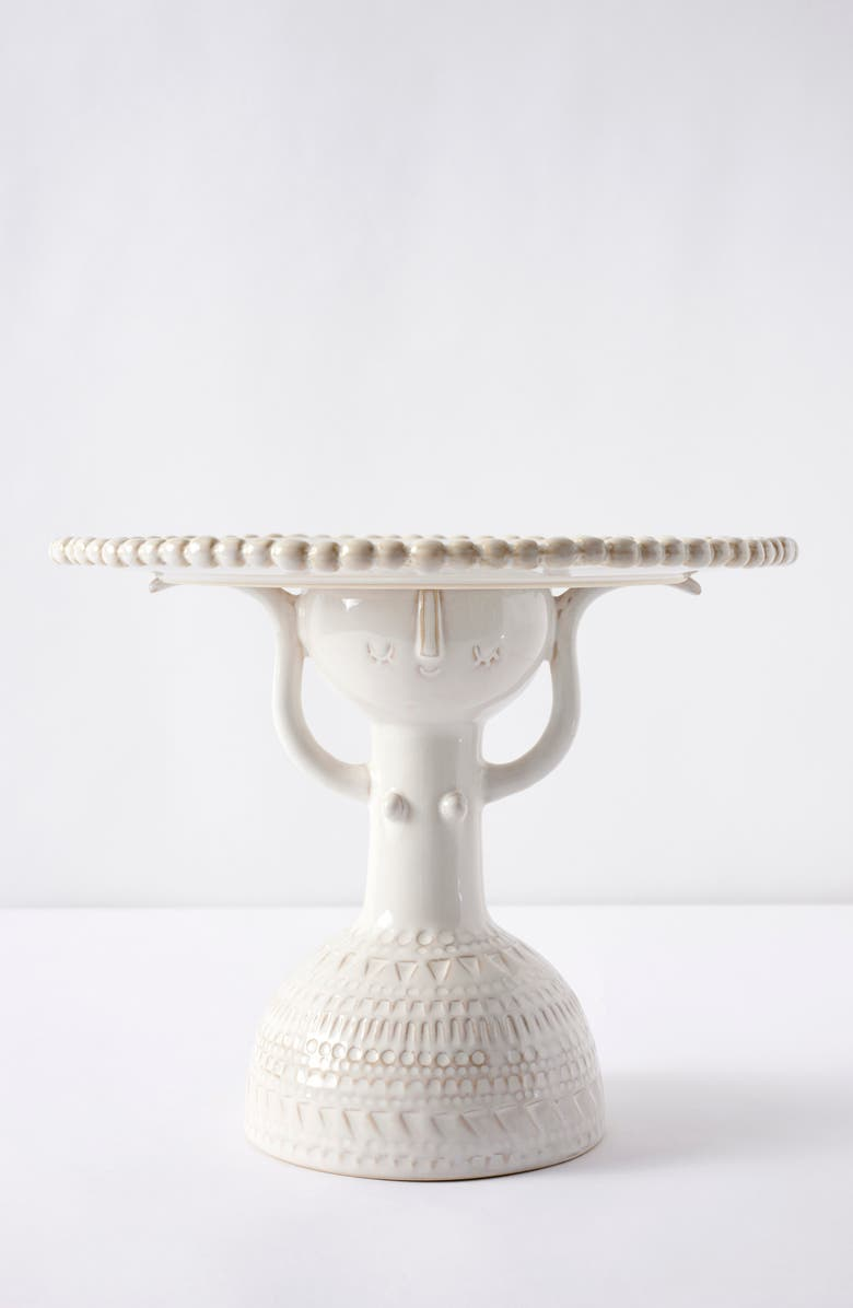 ANTHROPOLOGIE HOME Atliere Stella Cake Stand, Main, color, WHITE
