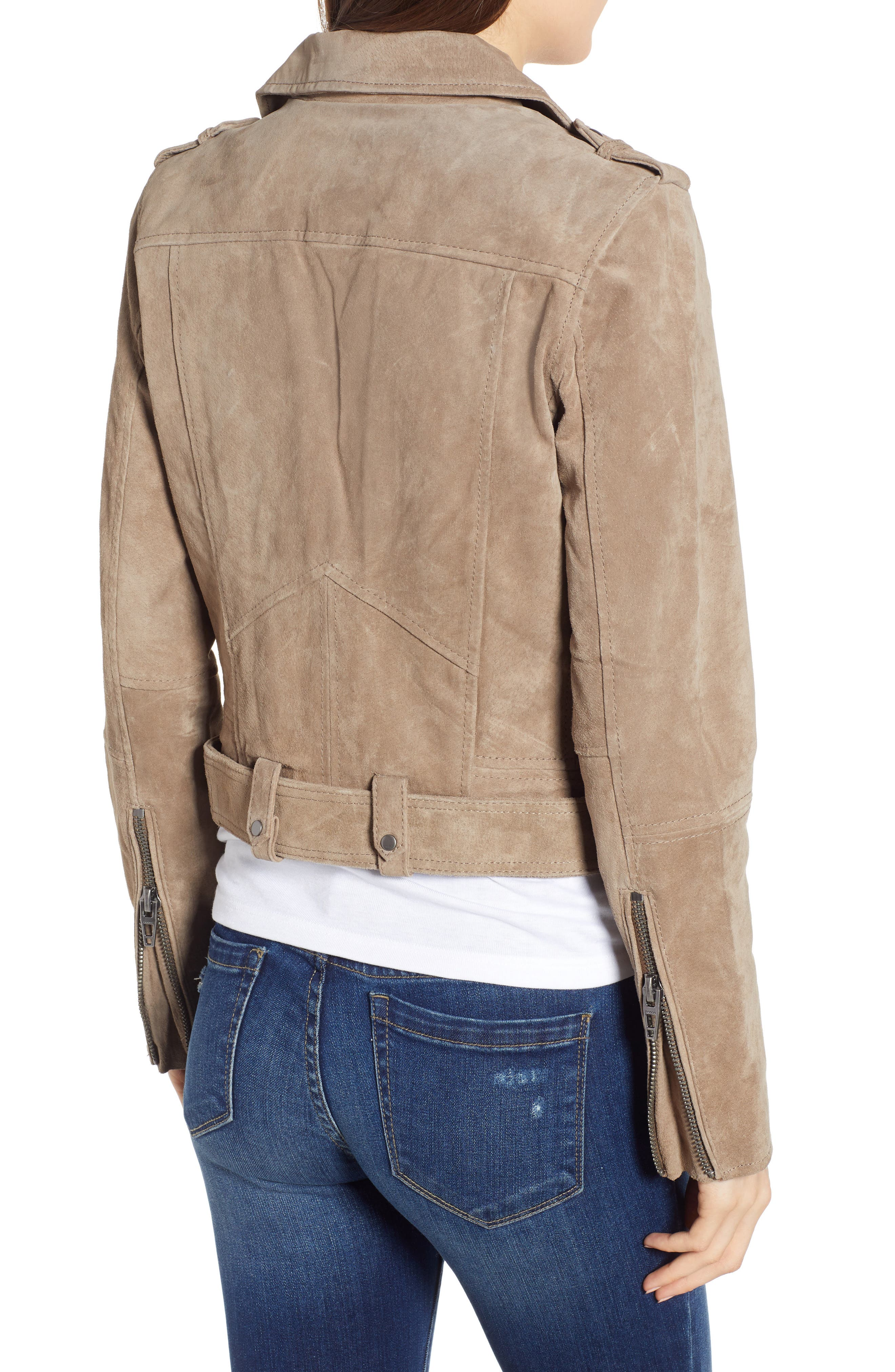 ,                             Morning Suede Moto Jacket,                             Alternate thumbnail 2, color,                             FRENCH TAUPE