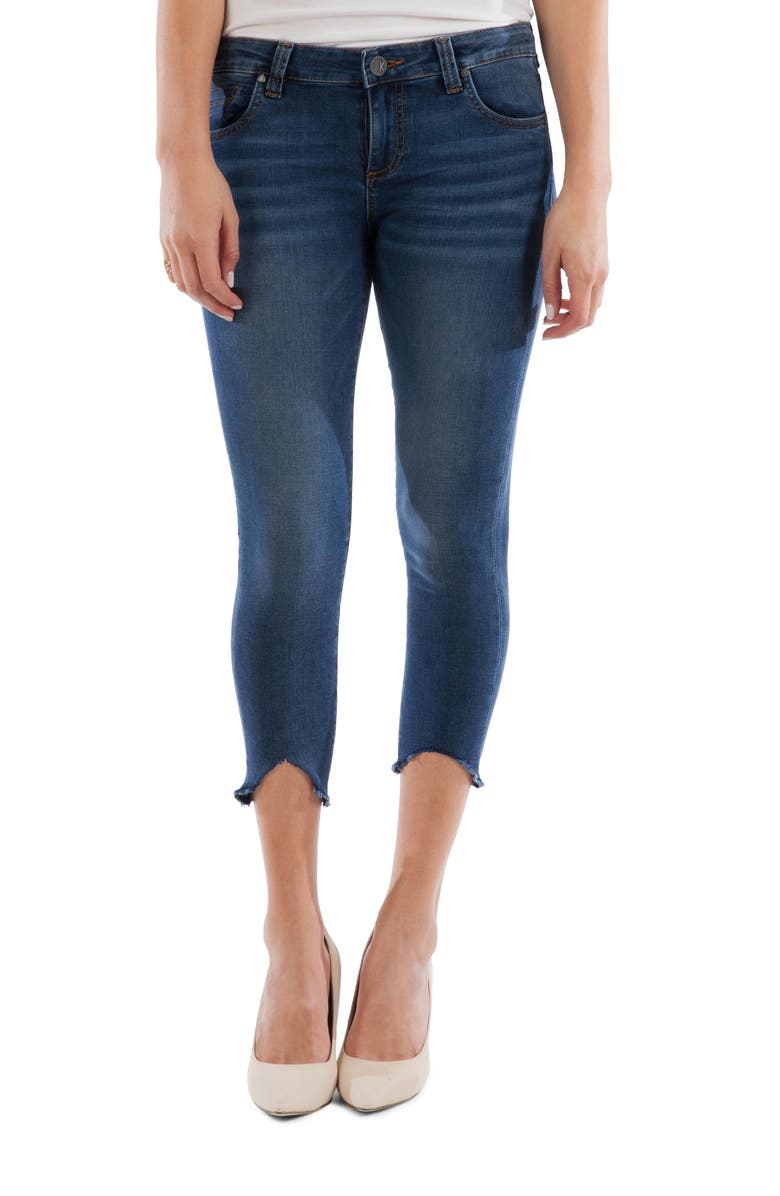 KUT FROM THE KLOTH Connie Shark Bite Hem Crop Skinny Jeans, Main, color, SPECIFIC