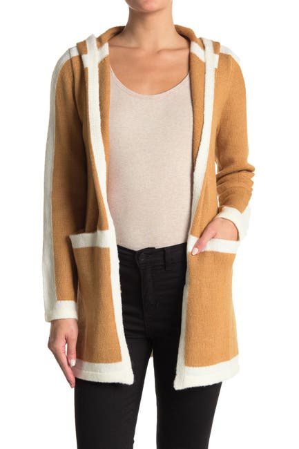 Image of Love by Design Brandi Pipe Trim Hooded Cardigan
