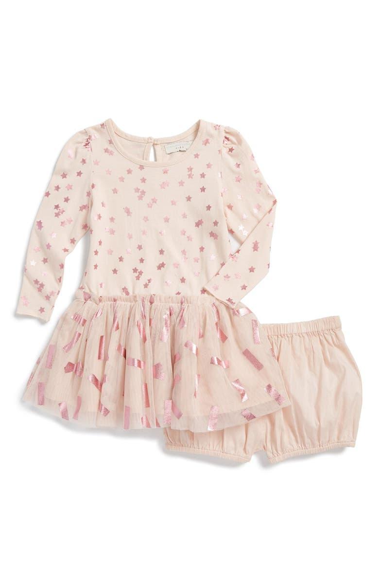 STELLA MCCARTNEY KIDS 'Primrose' Star Print Dress & Bloomers, Main, color, 653
