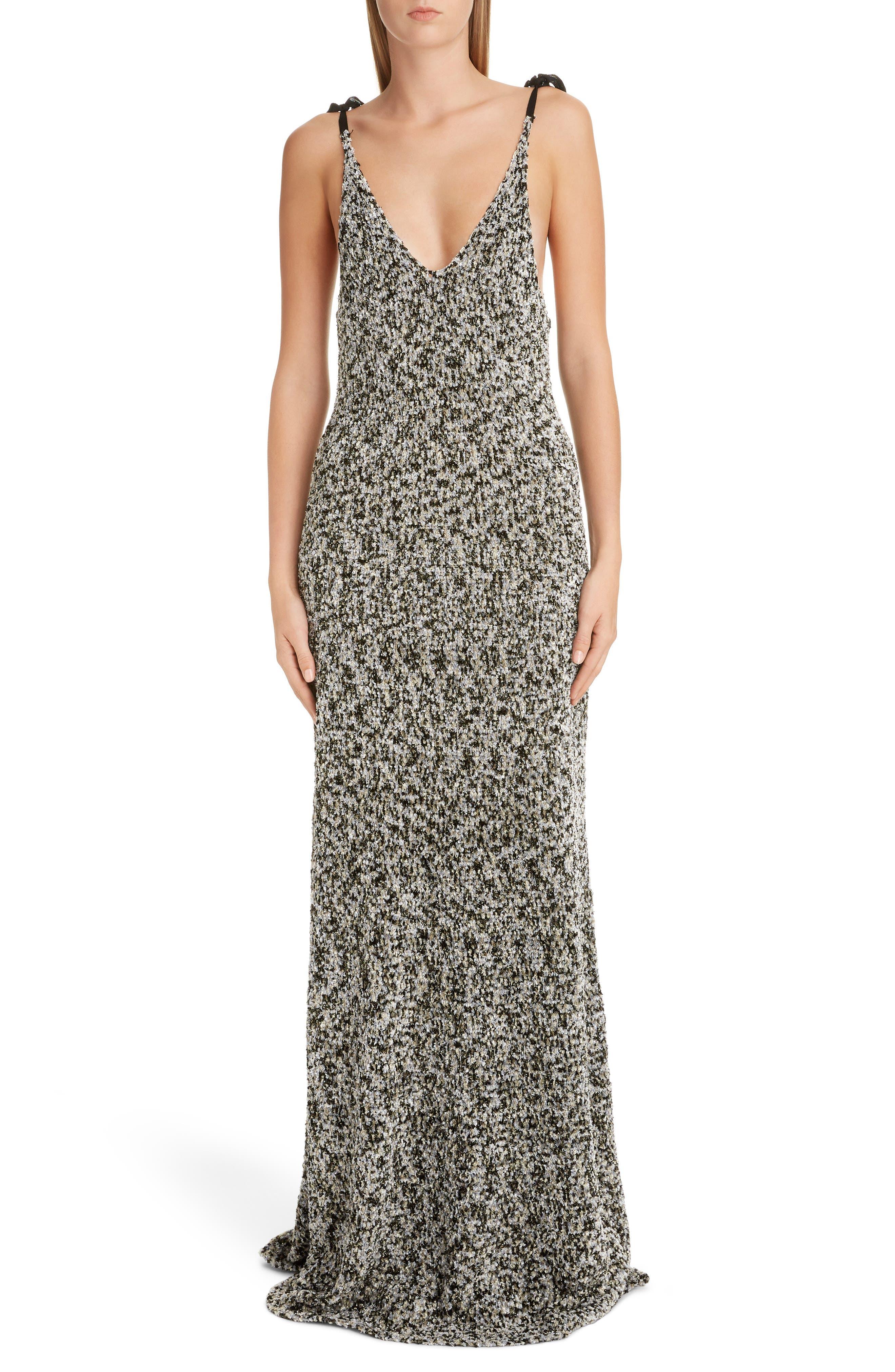 Loewe Dresses Metallic Knit Maxi Dress