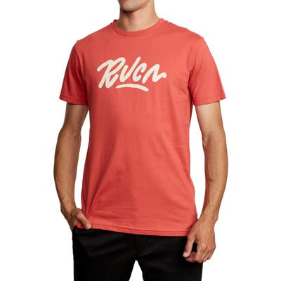 Rvca Flow Graphic T-Shirt, Red