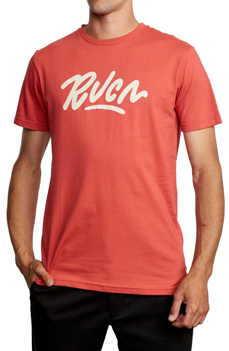 RVCA Flow Graphic T-Shirt, Main, color, BAKED APPLE