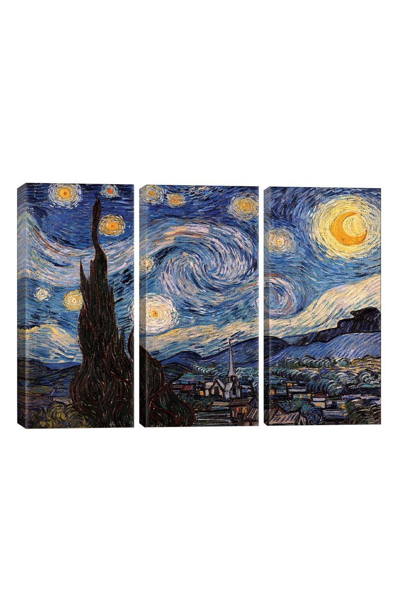 ICANVAS The Starry Night by Vincent Van Gogh Giclée Print Canvas Art, Main, color, BLUE